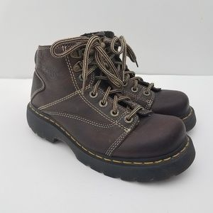 Dr Martens 8A07 Unisex Brown Leather Rugged Boots